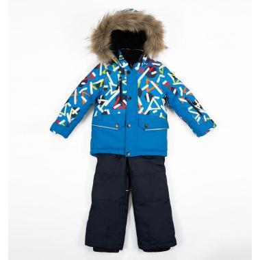 Зимний комплект БАТИК для мальчика НАУМ (ярко-синий), 2-5 лет