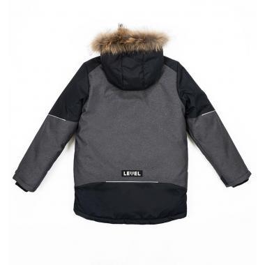 Зимняя куртка БАТИК для мальчика ПИТЕР (черный), 9-15 лет