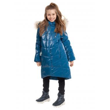 Зимнее пальто БАТИК для девочки ЛЕЯ (глубокий океан), 6 - 9 лет