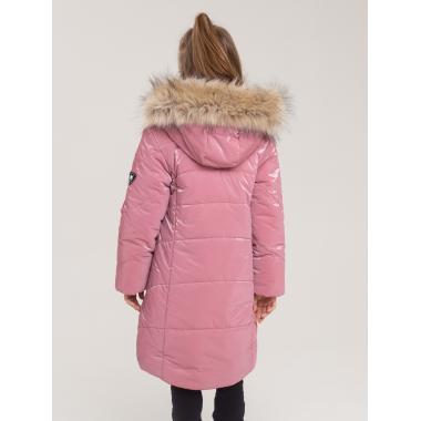 Зимнее пальто БАТИК для девочки ЛЕЯ (розовый щербет), 6 - 9 лет