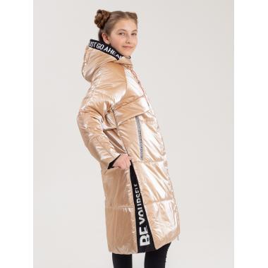 Зимнее пальто БАТИК для девочки ГЛОРИЯ (золотисто-бежевый), 10 - 15 лет