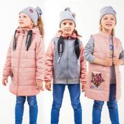Весенняя куртка 3 в 1 BOOM! by Orby для девочки (пепельно-розовый//серый меланж/пепельно-розовый), 3-13 лет
