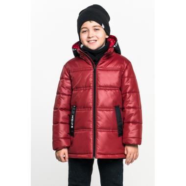 Демисезонная куртка BOOM! by Orby для мальчика (бордо/черный), 1,5-13 лет