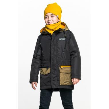Демисезонная куртка BOOM! by Orby для мальчика (черный/хаки), 3-15 лет