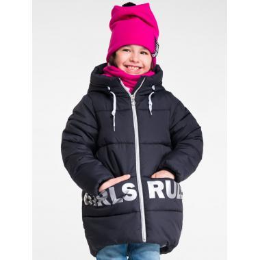 Зимняя куртка BOOM by ORBY для девочки (черный), 6-13 лет