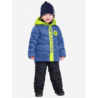 Зимний комплект Boom! by Orby для мальчика (синий/салатовый/черный), 1-7 лет