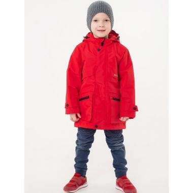 Демисезонная парка EMSON  для мальчика РОМАН (красный), 3-8 лет