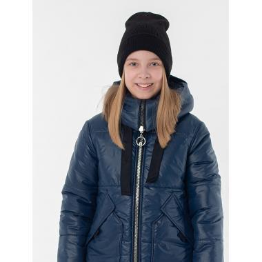 Зимнее пальто САНДРА для девочки EMSON (синий), 7-12 лет