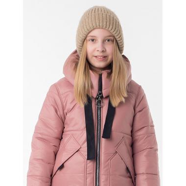 Зимнее пальто САНДРА для девочки EMSON (пыльная роза), 7-12 лет