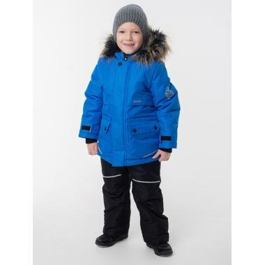 Зимняя парка EMSON  для мальчика АРСЕНИЙ (синий), 4-10 лет