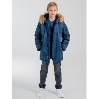 Зимняя парка EMSON  для мальчика РИЧАРД (синий), 9-15 лет