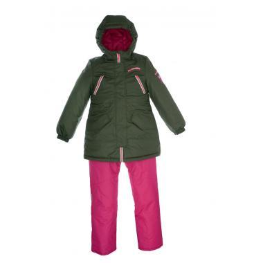 Купить Зимний комплект GRAF KIDS для девочки (хаки), 8 - 13 лет