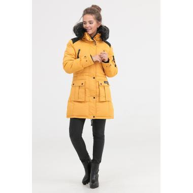 Зимнее пальто для девочки Jan Steen (желтый), 11-14 лет