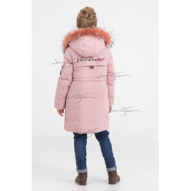Зимнее пальто для девочки BILEMI (розовый), 7-11 лет