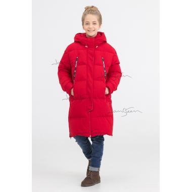 Зимняя парка для девочки BILEMI (красный), 10-14 лет