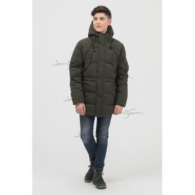 Зимнее пальто для мальчика JAN STEEN (хаки), 11-14 лет