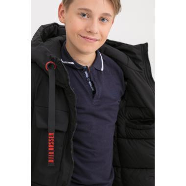 Зимняя парка для мальчика JAN STEEN (черный), 10-14 лет