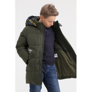 Зимняя куртка для мальчика BILEMI (зеленый), 7-11 лет