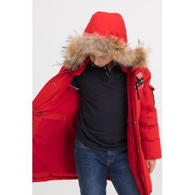 Зимняя куртка для мальчика BILEMI (красный), 8-12 лет