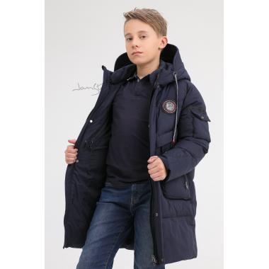 Зимняя куртка для мальчика BILEMI (черный), 8-12 лет