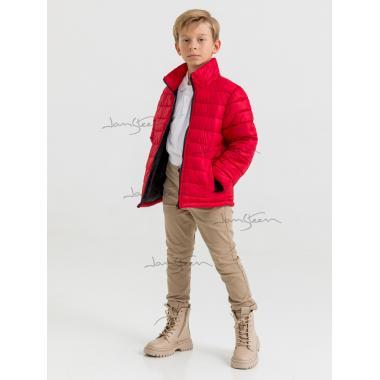 Зимняя куртка 2 в 1 для мальчика JAN STEEN (красный), 8 - 12 лет