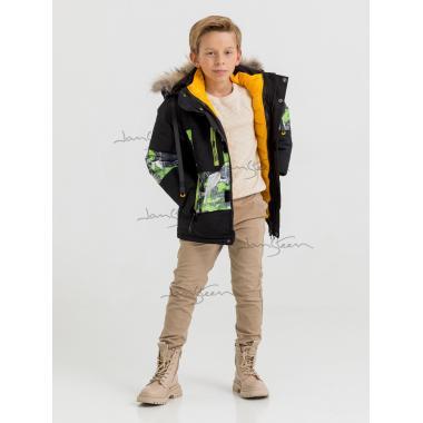 Зимняя куртка 2 в 1 для мальчика JAN STEEN (зеленый), 8 - 12 лет