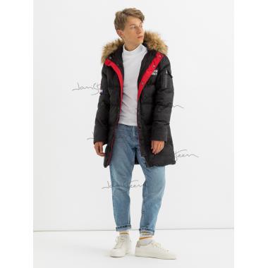 Зимнее пальто для мальчика JAN STEEN (черный), 11 - 14 лет