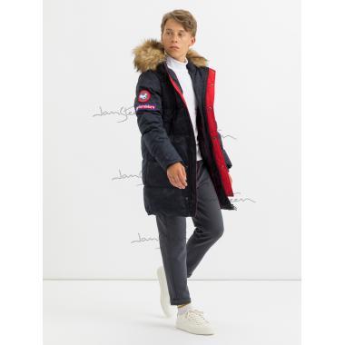 Зимнее пальто для мальчика JAN STEEN (темно-синий), 11 - 14 лет