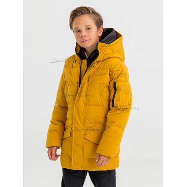 Зимнее пальто для мальчика JAN STEEN (желтый), 12 - 15 лет