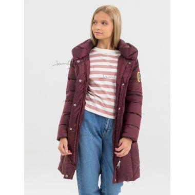 Зимнее пальто для девочки JAN STEEN (т.красный), 12 - 15 лет