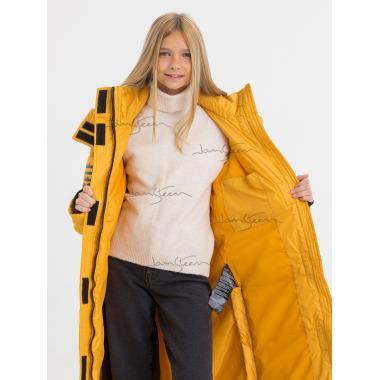 Зимнее пальто для девочки JAN STEEN (желтый), 11 - 14 лет