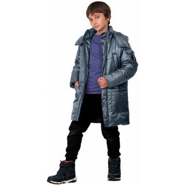 Зимнее пальто JEANEES для мальчика ЛЕОН (голубой) 9 - 13 лет