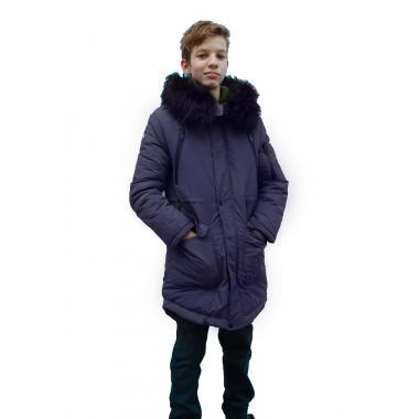 Зимнее пальто JEANEES для мальчика АДРИАНО (синий) 11 - 14 лет