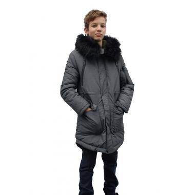 Зимнее пальто JEANEES для мальчика АДРИАНО (серый) 11 - 14 лет