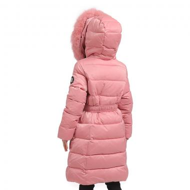 Зимнее пальто KIKO для девочки БЕРТА (пудра), 9-13 лет