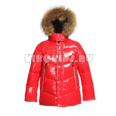 Зимняя куртка KIKO для мальчика ВАДИМ (красный), 7 - 10 лет