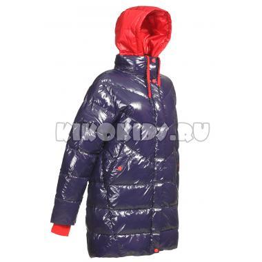 Зимнее пальто KIKO для девочки АЭЛИТА (синий), 7-10 лет