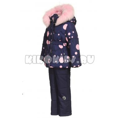 Купить Зимний комплект Kiko для девочки ЛОРА (синий/розовый), 4-7 лет