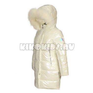 Зимнее пальто KIKO для девочки ИЮЛИЯ (белый), 5-9 лет