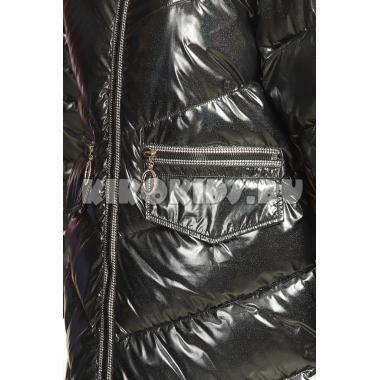 Зимнее пальто KIKO для девочки СЛАВА (черный,) 11-15 лет