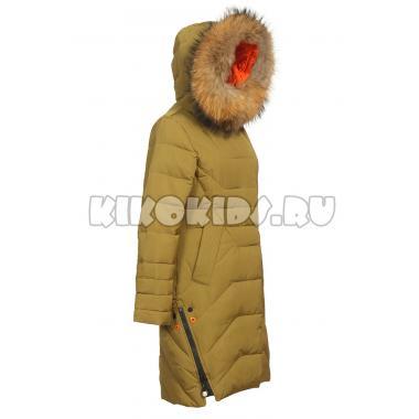 Зимнее пальто KIKO для девочки ЕСЕНИЯ (хаки), 10-15 лет