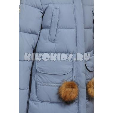 Зимнее пальто KIKO для девочки ЖДАНА (джинс), 8-13 лет