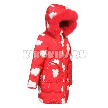 Зимнее пальто KIKO для девочки ДЕЯ (красный), 6-10 лет