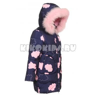 Зимнее пальто KIKO для девочки ДЕЯ (синий), 6-10 лет
