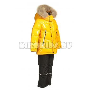 Зимний комплект Kiko для мальчика ДАНИЛ (горчица/черный), 1,5 года - 6 лет