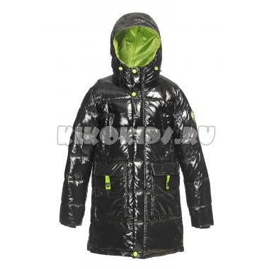 Зимняя куртка KIKO для мальчика ЗАХАР (черный/салат), 10-15 лет