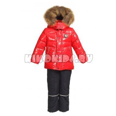 Зимний комплект Kiko для мальчика АРТЕМ (красный/синий), 1 года - 4 лет