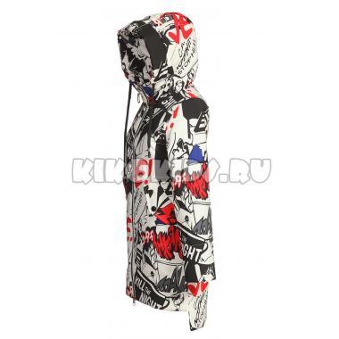 Демисезонное пальто для девочки Levin Force (принт), 10-14 лет