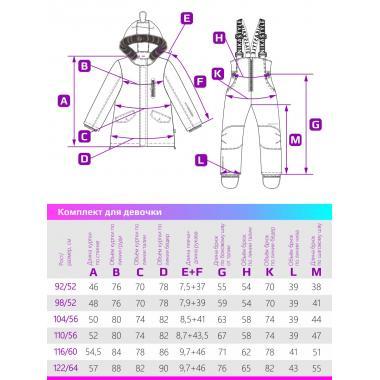Купить Зимний комплект для девочки NIKASTYLE (фуксия), 2 года - 7 лет
