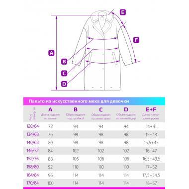 Зимнее пальто из искусственного меха для девочки NIKASTYLE (бежевый), 8-15 лет